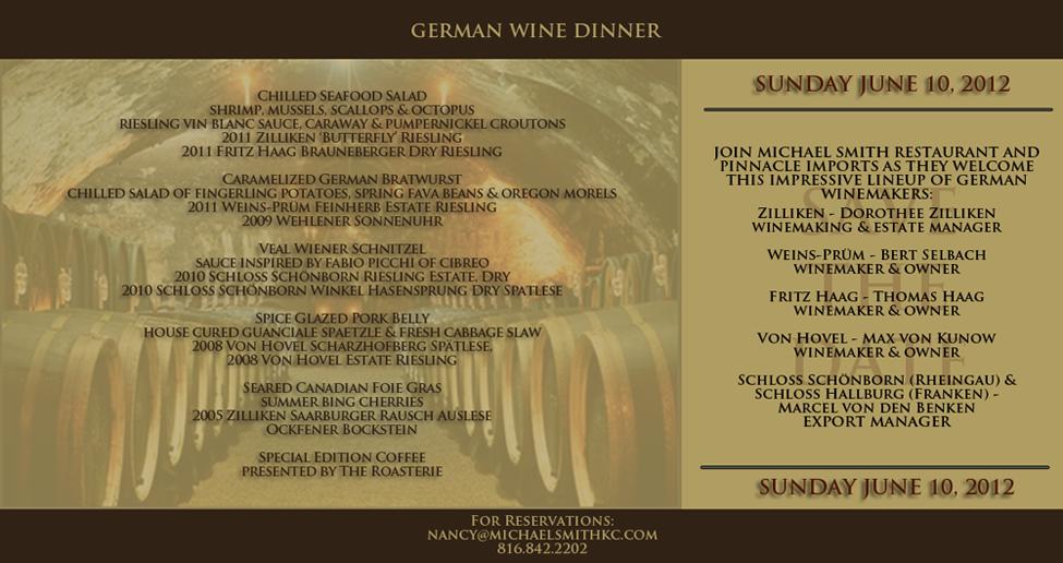 German Wine Dinner Email Marketing Campaign Sara Paxton
